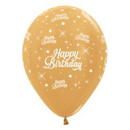 30cm Birthday Print - Gold