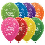 30cm Birthday Print - Bright Assorted