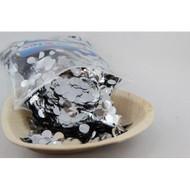 1cm Metallic Confetti - Silver
