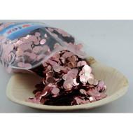 1cm Metallic Confetti - Rose Gold
