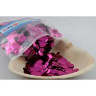 1cm Metallic Confetti - Hot Pink