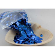 1cm Metallic Confetti - Blue