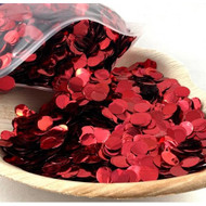 1cm Metallic Confetti - Red