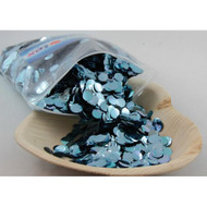 1cm Metallic Confetti - Light Blue