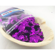 1cm Metallic Confetti - Purple