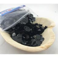 1cm Metallic Confetti - Black