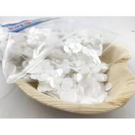 1cm Metallic Confetti - White