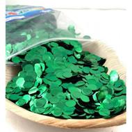 1cm Metallic Confetti - Green
