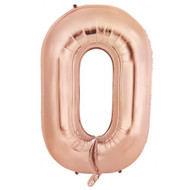 86cm Rose Gold O - Inflated