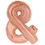 86cm Rose Gold Ampersand - Inflated