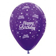 30cm Birthday Print - Purple