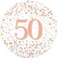 #50 Rose Gold - 45cm Inflated Foil