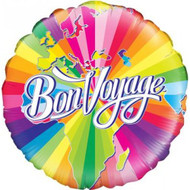 "45cm Bon Voyage ""Swirls"" - Inflated Foil"
