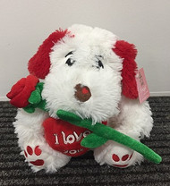 Bouquet Addition - ILY 25cm Dog n Rose