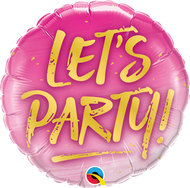 45cm Lets Party - Inflated Foil