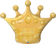 100cm Inflated Shape - Golden Crown