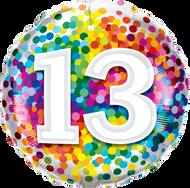 #13 Confetti - 45cm Flat Foil