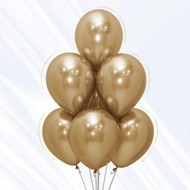 30cm Chrome Gold Latex - Pack of 50