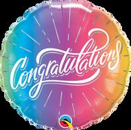 45cm Congratulations - Vibrant Ombre