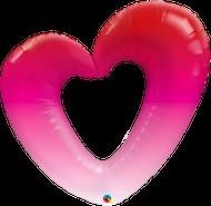105cm Shape - Pink Ombre Heart