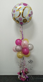 """A18B Age Related """"Pink and Gold Dots""""."""