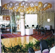 30cm Ceiling Balloons - Metallic/Pearl (Float 16 Hrs)