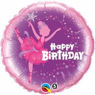 45cm Inflated Foil - HB Ballerina