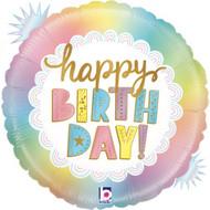 """45cm Birthday """"Opal"""" Foil - Flat"""