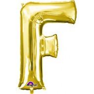 86cm Flat Alphaloon - Gold F