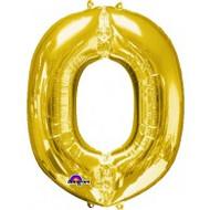 86cm Flat Alphaloon - Gold O