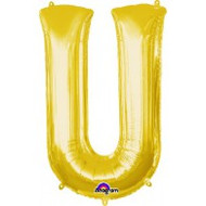 86cm Flat Alphaloon - Gold U