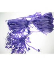 Pre Clipped Purple Ribbons x Pkt 25