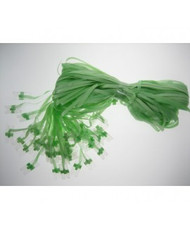 Pre Clipped Lime Green Ribbons - Pkt 25