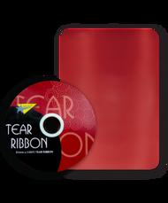 32mm x 91mtr Red Tear Ribbon