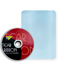 32mm x 91 mtr Light Blue Tear Ribbon