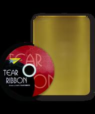32mm x 91mtr Gold Tear Ribbon