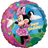 Minnie Birthday - 45cm Flat Foil