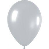 30cm Pearl Silver Latex - Pkt 100