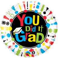 "Congrats ""You Did It"" - 45cm Flat Foil"
