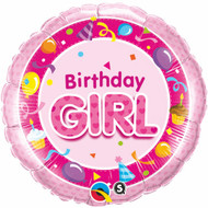 Birthday Girl - 45cm Flat Foil