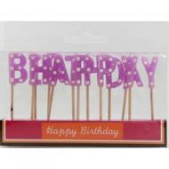 Pink Polka Dot Birthday Candles