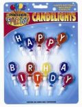 Birthday set of Candles with Holders