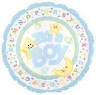 "Baby Boy ""Moon & Stars"" - 31"" Flat Shape"