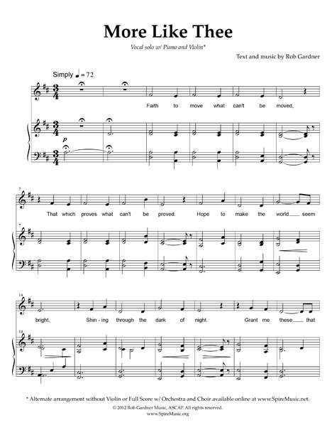 More Like Thee - w/ Violin Solo
