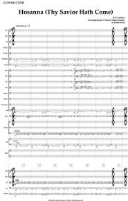 Hosanna (Thy Savior Hath Come) - Full Orchestral Score and Parts