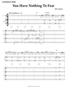 You Have Nothing to Fear - Full Score (String Quartet & Piano) and Parts
