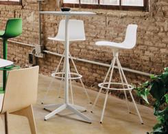 Enea - Lottus bar stool, white