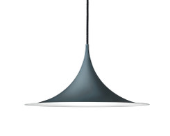 Gubi - Semi pendant light (47cm, anthracite)