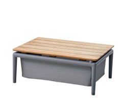 Cane-line - Conic Box Table Teak with aluminium