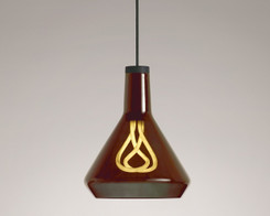 Plumen - Drop Top Lamp Shade Set Amber with Plumen 001 LED Bulb